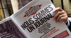 "Libération journalists seized control of the newspaper on February 7th and published an edition the following day with the front page headline: ""We are a newspaper."" Photograph:  Pierre Andrieu/AFP/Getty Images"