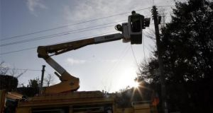 Power has now been restored to about 260,000 homes. Photograph: Dara Mac Dónaill / The Irish Times