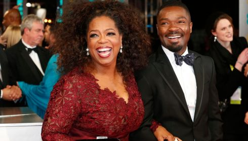 Oprah Winfrey and David Oyelowo arrive at the British Academy of Film and Arts (BAFTA) awards. Winfrey was nominated for a  Best Supporting Actress Bafta for The Butler. The award waswon by Jennifer Lawrence for American Hustle. Photograph: Suzanne Plunkett /Reuters