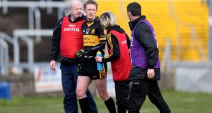 Colm Cooper of Dr Crokes leaves the field after sustaining an injury against Castlebar Mitchels during the AIB All-Ireland senior club semi-final at O'Moore Park in Portlaoise on Saturday. Photograph: Donall Farmer/Inpho
