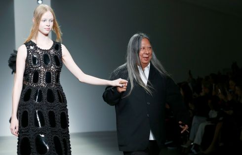 John Rocha closing his show. Photograph: Getty Images