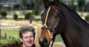 Trainer Philip Fenton pictured with Dunguib. Photograph:  Cathal Noonan/Inpho