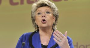European Union commissioner Viviane Reding said the UK would be weaker outside the EU. AFP Photo / Georges Gobet