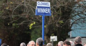 The winners' enclosure at Clonmel. Photograph: Lorraine O'Sullivan/Inpho