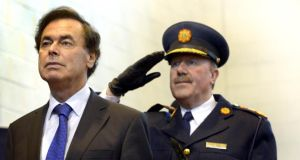Minister for Justice  Alan Shatter TD with Garda Commissioner Martin Callinan.  .Photograph: Brenda Fitzsimons/The Irish Times