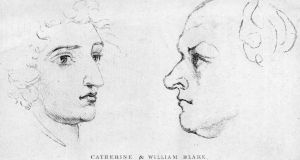 Poet and partner: Catherine and William Blake, from  sketches by William Blake. Photograph: Hulton/Getty
