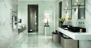 To celebrate the launch of their new store at Grantham House, on Dublin's Grantham Street, National Tile (01-6978123, national-tile.com) is offering Irish Times readers an introductory offer on their Marvel collection of marble-look ceramic floor and wall tiles. The Calcutta wall tile, 30.6cm by 56cm, seen here, can be purchased for €38psm (normal price €44psm). The matching wall tile, 60cm square, can be purchased for €37psm instead of its usual price €45psm. Offer ends March 16th.
