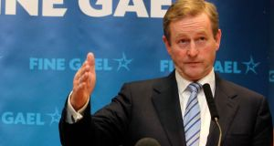 "Enda Kenny:  he claimed Mr Donnelly had ""jumped the gun"", and said the mortgages might not be sold to outside hedge funds if the valuations were not achieved and could go to Nama. Photograph: Sam Boal/Photocall Ireland"