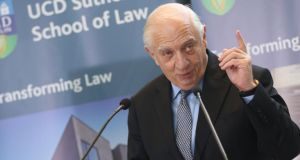 In UCD, the first purpose-built university law school in Ireland is named after Peter Sutherland SC