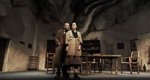 Simon O'Gorman and Derbhle Crotty in Sive at the Abbey Theatre. Photograph:  Ros Kavanagh