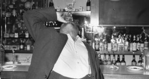 Behan having a final drink in London before going back to Ireland. Photograph: Getty Images