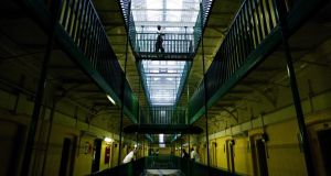 "Prisoners at Pentonville walk through an atrium –  ""Considerations should be given to whether HMP Pentonville has a viable future,"" said chief inspector of prisons Nick Hardwick  after a recent 10-day visit. Photograph: Getty"