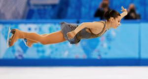 Russia's Adelina Sotnikova during the women's figure skating   free skating program final at the Sochi 2014 Winter Olympics. Photograph: Lucy Nicholson/Reuters