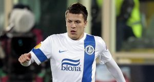 Yevhen Konoplyanka scored the winner for Dnipro against Spurs. Photograph:  Gabriele Maltinti/Getty Images