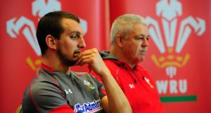 Wales captain Sam Warburton  and coach Warren Gatland face the press earlier this week.