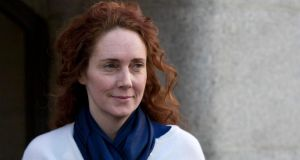 Former News International chief executive Rebekah Brooks leaving the Old Bailey yesterday, where she described her experience of life inside tabloid newsrooms,including several examples of misogyny. Photograph: Neil Hall/Reuters