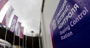 Two athletes have returned positive doping samples at  the Sochi Winter Games. Photograph: Fabrizio Bensch/Reuters