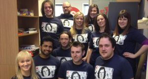 Bought the T-Shirt: staff at the Derry office of UK content creation company, 360 Production
