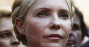 Ukrainian lawmakers have passed a law that allows the freeing of former Prime Minister Yulia Tymoshenko. The vote was broadcast live on television. File photograph: Sergey Dolzhenko/EPA