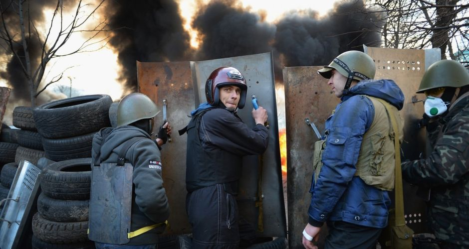 Mass destruction and death in Kiev