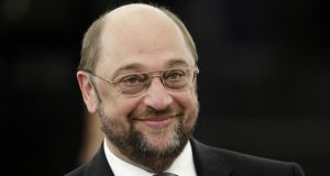 "German Social Democrat Martin Schulz: engaged in a ""slightly democratic"" gambit. Photograph: Reuters"
