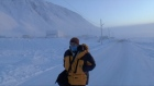 Charlie Bird arrives in a chilly Grise Fiord