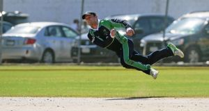 Ireland's William Porterfield in action against the West Indies in Sabina Park, Kingston. Photograph: Inpho/WICB