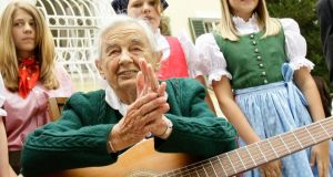 "Maria von Trapp, a member of the Austrian family whose escape from Nazi Germany and subsequent musical career inspired the famed musical ""The Sound of Music,"" has died at the age of 99. Photograph: Leonhard Foeger/Reuters"