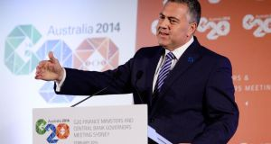 "Australian finance minister Joe Hockey: ""Some multinational companies aren't paying their fair share of tax anywhere."" Photograph: Lisa Maree Williams/Getty"
