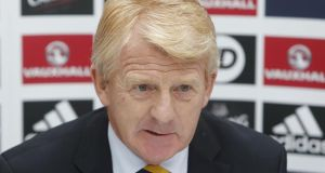 Scotland manager Gordon Strachan: 'There are some groups you might call mundane but we're definitely in an exciting group. It's a terrific, terrific draw.' Photograph: Danny Lawson/PA Wire