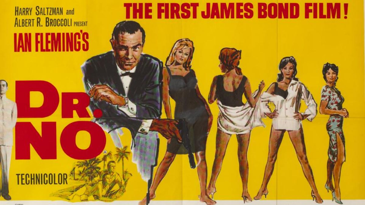 Bond girl's bikini was hidden from Irish eyes in movie poster for 'Dr No'