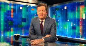 Piers Morgan on the set of his CNN show 'Piers Morgan Tonight' at the Time Warner Center in New York in 2011. Three years after taking over for Larry King, Morgan has seen his ratings hit new lows. Photograph: The New York Times