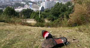 Broken shoes on a hill in Wenzhou: the city was hard hit by 2011's credit crunch. photograph: qilai shen/bloomberg