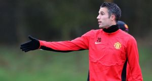 'If you play well and are lucky you have a good chance of going far, but even then I think there are eight to 10 teams who could win it this year': Manchester United's Robin van Persie. Photograph: Peter Byrne/PA Wire