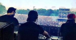 Swedish House Mafia performing at the Phoenix Park in 2012.