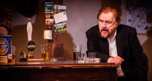 Brian Cox: 'My family are all Irish. They were forced to move, to wander and be uprooted.' Above, in Conor McPherson's The Weir. Photograph: Helen Warner