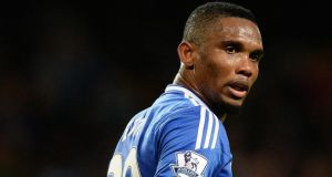 Chelsea's Samuel Eto'o 'is 32, maybe 25, who knows?' Photograph: Peter Powell/EPA
