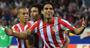 Radamel Falcao could be a target for Chelsea.  Photograph:  Jasper Juinen/Getty Images