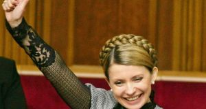 Yulia Tymoshenko during a parliamentary session in Kiev in 2005. Ukraine's new Photograph: Gleb Garanich/Reuters.