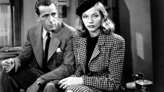 Humphrey Bogart as Philip Marlowe and Lauren Bacall as Vivian Rutledge in The Big Sleep. Photograph: Silver Screen Collection/Getty Images