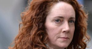 Former News International chief executive Rebekah Brooks arrives at the Old Bailey courthouse in London today. Ms Brooks is  on trial on various charges related to phone-hacking, illegal payments to officials for stories, and hindering police investigations. She denies the charges.  Photograph: Reuters