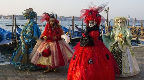 Masqued magic at the Doge Palace in Venice, Italy. The 2014 Carnival of Venice runs from February 15th to March 4th and includes a program of gala dinners, parades, dances, masked balls and music events. Photograph: Marco Secchi/Getty Images