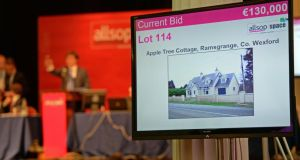 The Allsop auction of properties at the RDS Ballsbridge in Dublin, today. Photograph: Eric Luke/The Irish Times