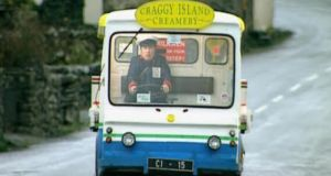 A widow who claimed she was knocked down by Father Dougal and injured by a milk float used in the cult television comedy show Father Ted has settled a High Court action for damages.