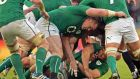 The Irish rugby team in action last weekend. The IRFU is among those owed money by Eventelephant. Photograph: Eric Luke.