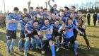 The UCD team celebrate their Collingwood Cup win last year.  Photograph: Stephen Hamilton/Presseye/Inpho