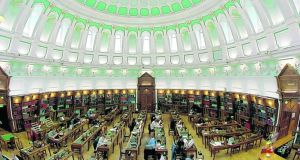 Read it and weep: the reading room at the National Library of Ireland on Kildare Street, where the new director will be required to 'consider more diverse ranges of funding sources'