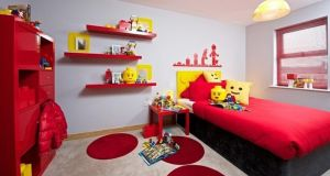Bright Lego bedroom by Weston Homes