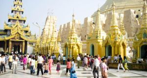The spiritual heart of Myanmar is the Shwedagon Pagoda. Photographs: Stephen Kelly