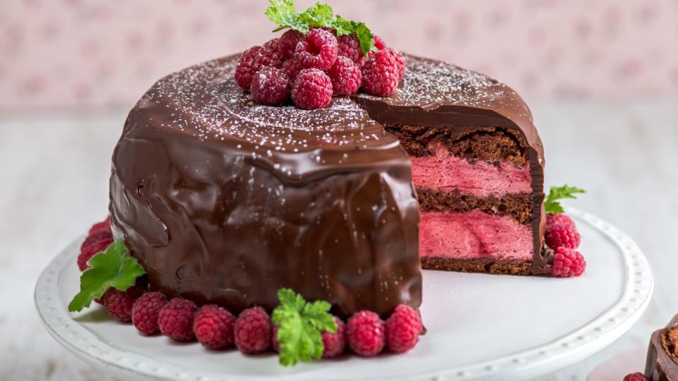 Chocolate And Raspberry Celebration Cake